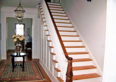 Custom turned newel post and custom handrail - Augusta, GA
