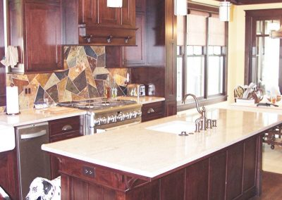 Stained maple kitchen cabinetry - Swansea, SC