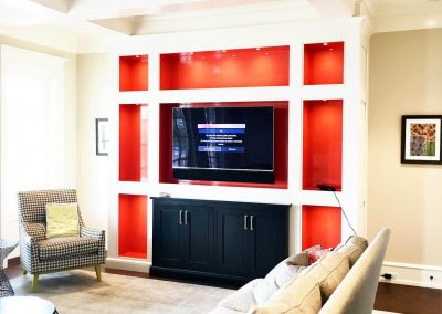 Den cabinetry. (Orange paint by others, onsite) - Columbia, SC