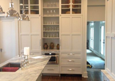 Painted kitchen cabinetry. Euro style. - Anderson, SC