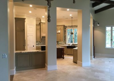 Painted and glazed kitchen cabinetry - Columbia, SC