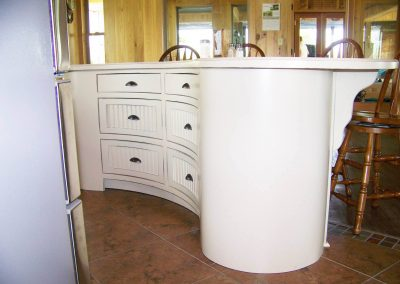 Curved kitchen island - Clarksdale, MS