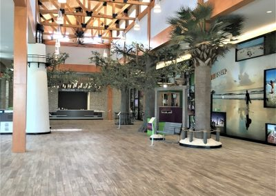 Chatham County Welcome Center, Savannah, GA - View of the lobby and art display