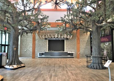 Chatham County Welcome Center, Savannah, GA - View of the lobby and reception desk