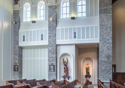 St. Anne Catholic Church, Richmond Hill, GA - View of transcept with alcoves.