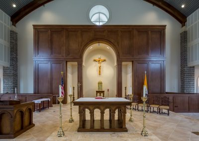 St. Anne Catholic Church, Richmond Hill, GA - View of the reredos.