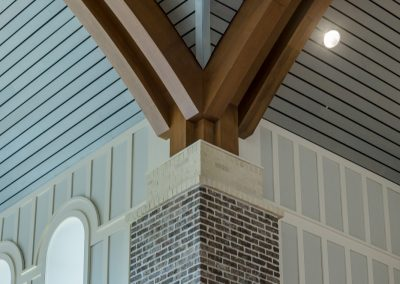 St. Anne Catholic Church, Richmond Hill, GA - Close-up of the beams.