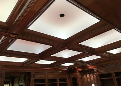 Mahogany Coffer Ceiling